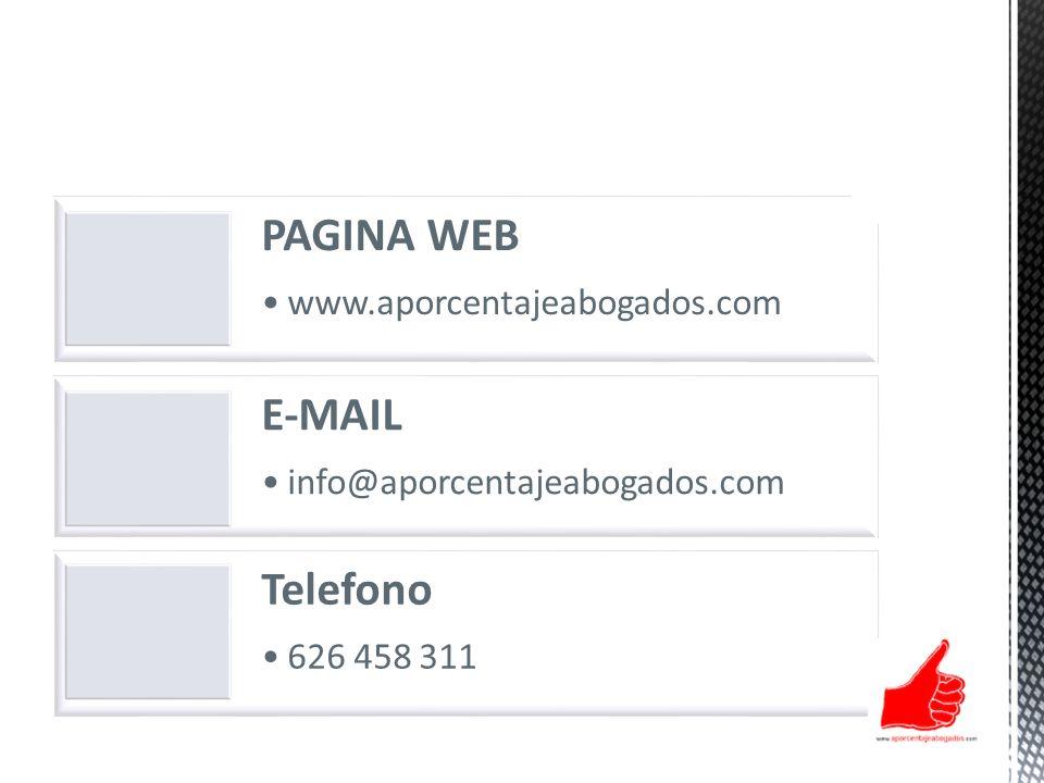 PAGINA WEB E-MAIL Telefono www.aporcentajeabogados.com