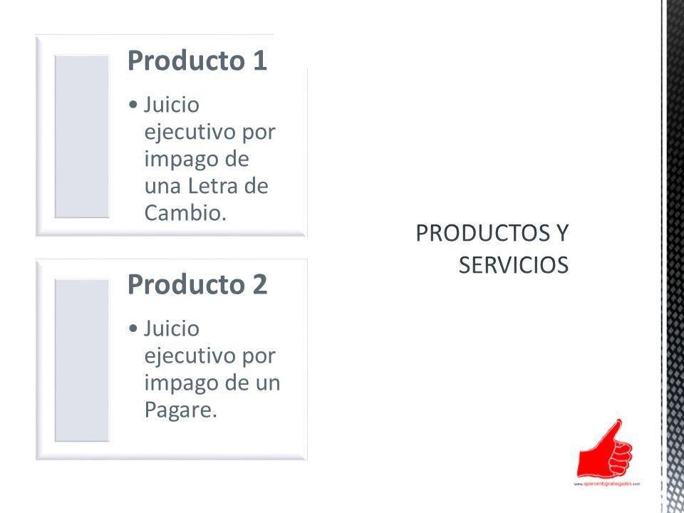 Producto 1 Producto 2 PRODUCTOS Y SERVICIOS