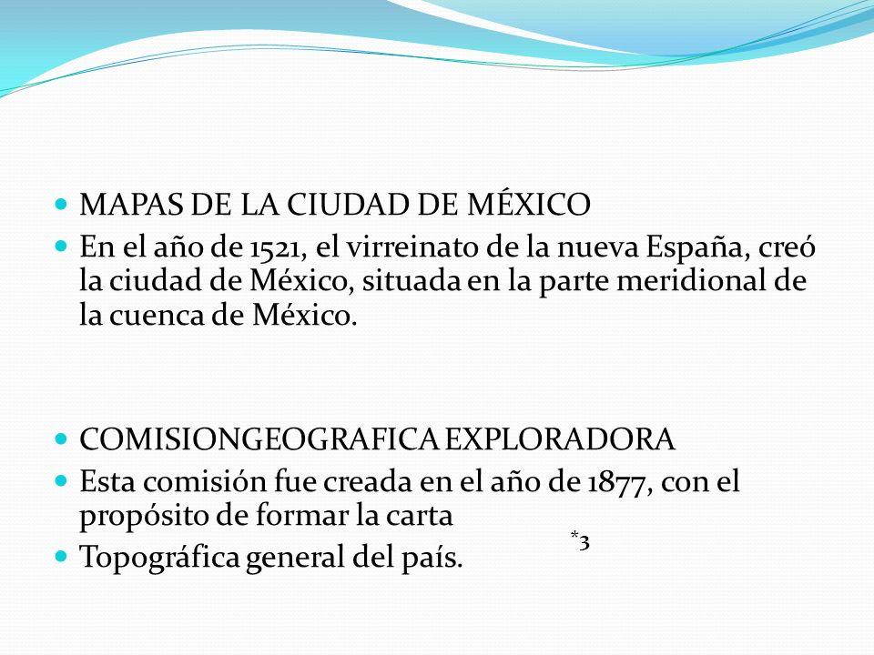 MAPAS DE LA CIUDAD DE MÉXICO
