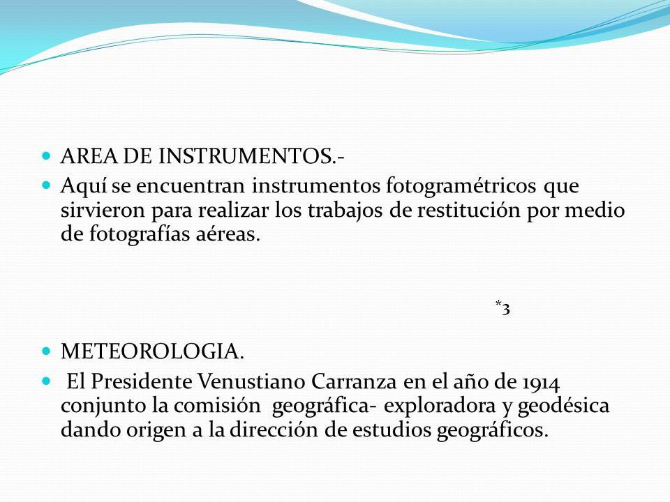 AREA DE INSTRUMENTOS.-