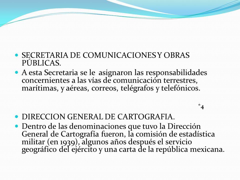 SECRETARIA DE COMUNICACIONES Y OBRAS PÚBLICAS.