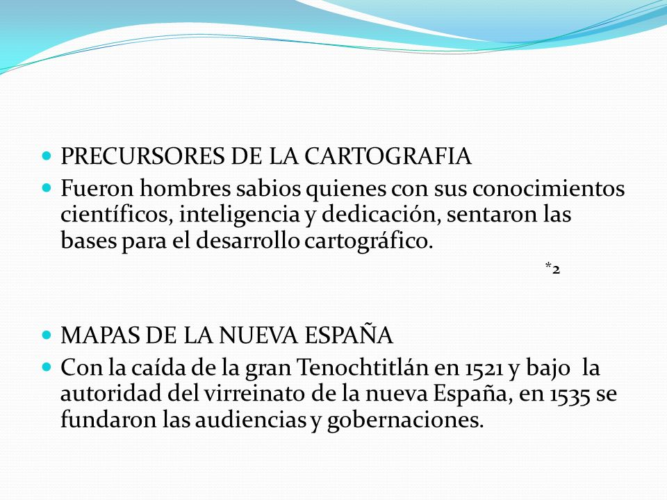 PRECURSORES DE LA CARTOGRAFIA