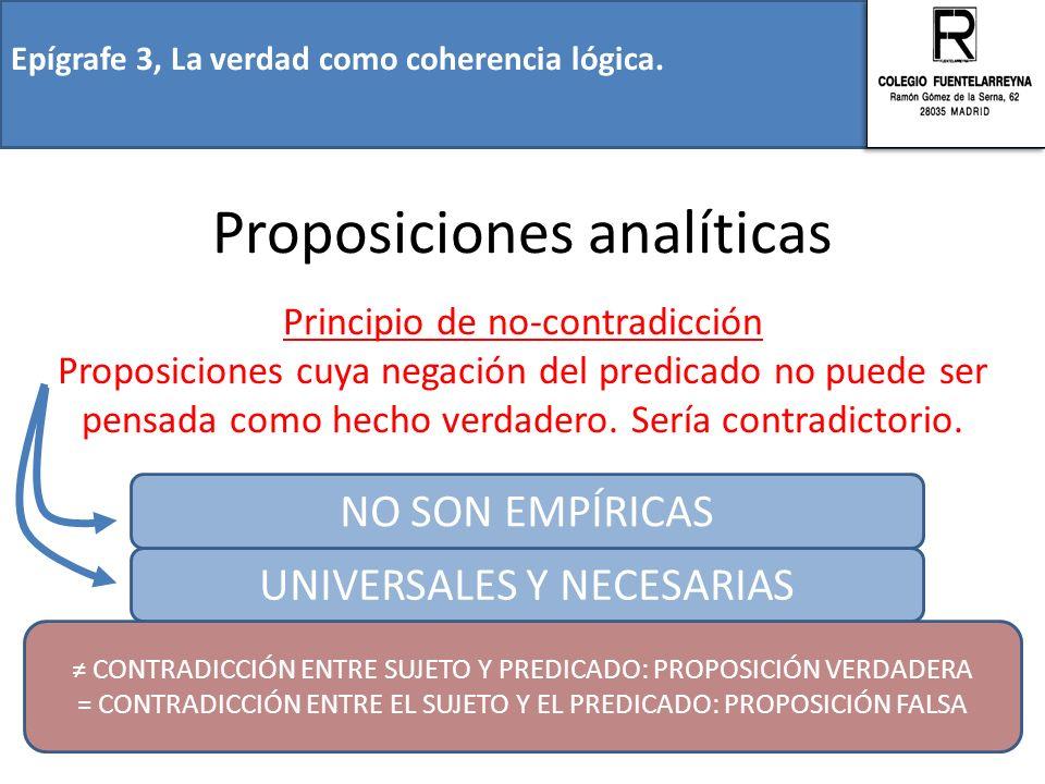 Proposiciones analíticas