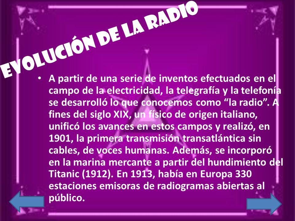 Evolución de la radio