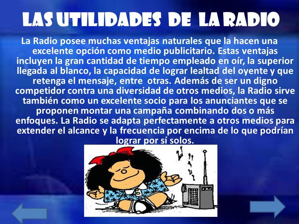 LAS UTILIDADES DE LA RADIO