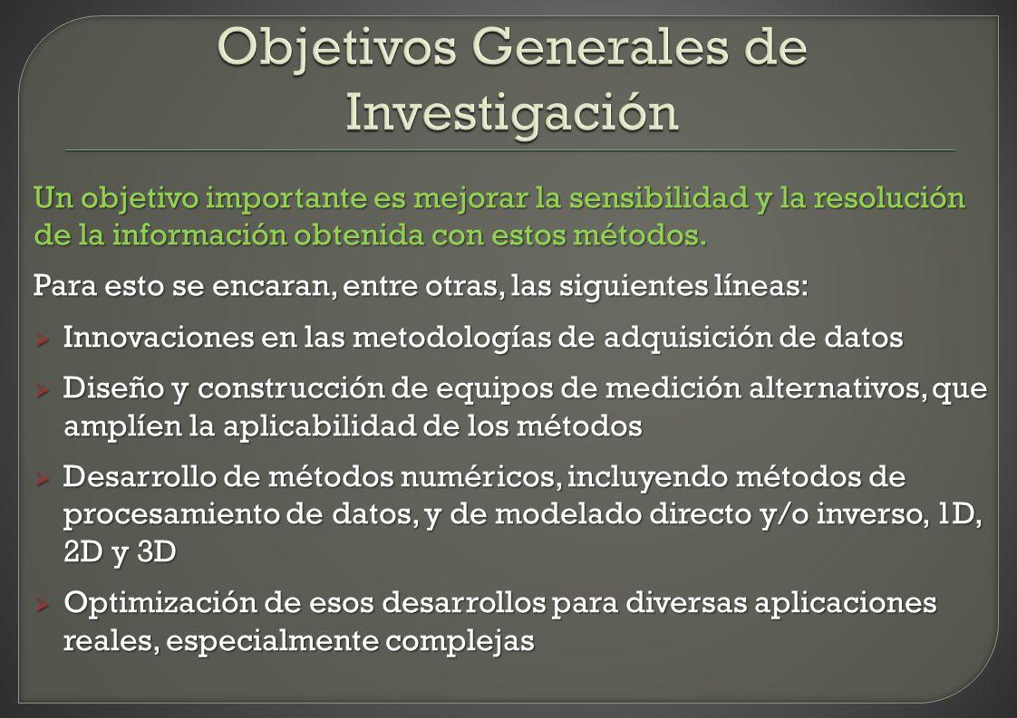 Objetivos Generales de Investigación