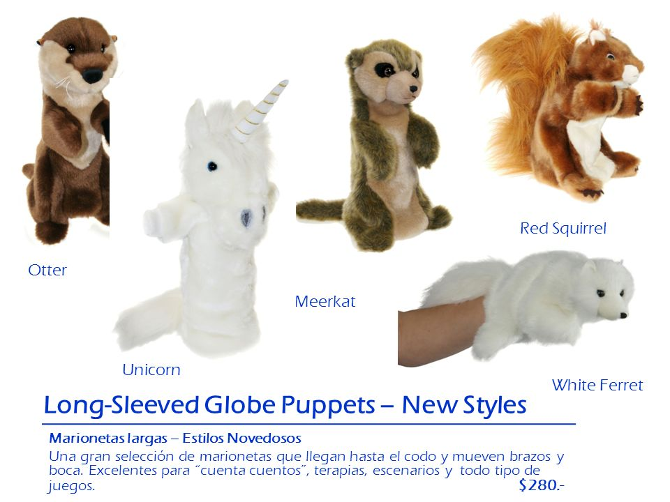 Long-Sleeved Globe Puppets – New Styles