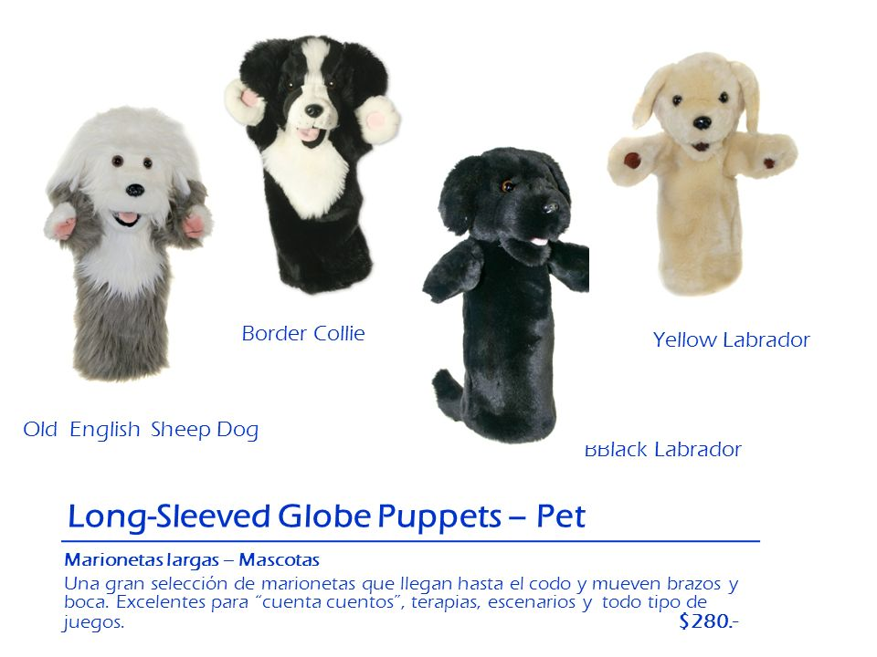 Long-Sleeved Globe Puppets – Pet