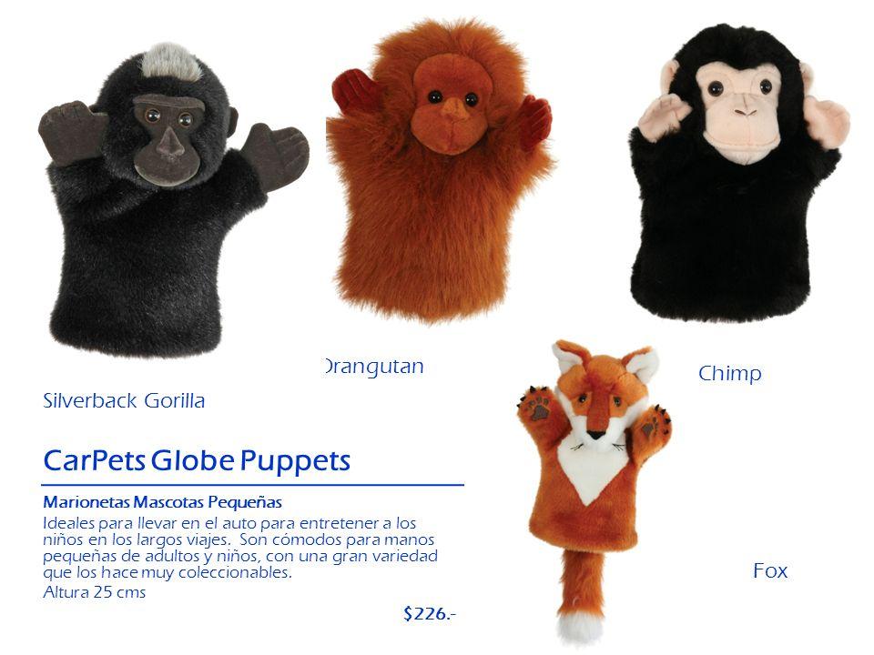 CarPets Globe Puppets Orangutan Chimp Silverback Gorilla Fox $226.-