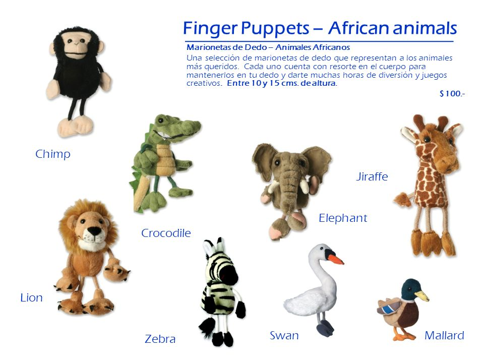 Finger Puppets – African animals