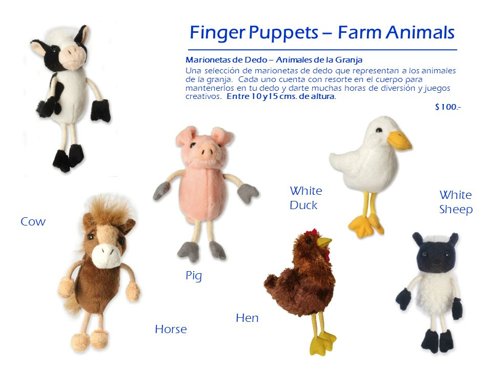 Finger Puppets – Farm Animals