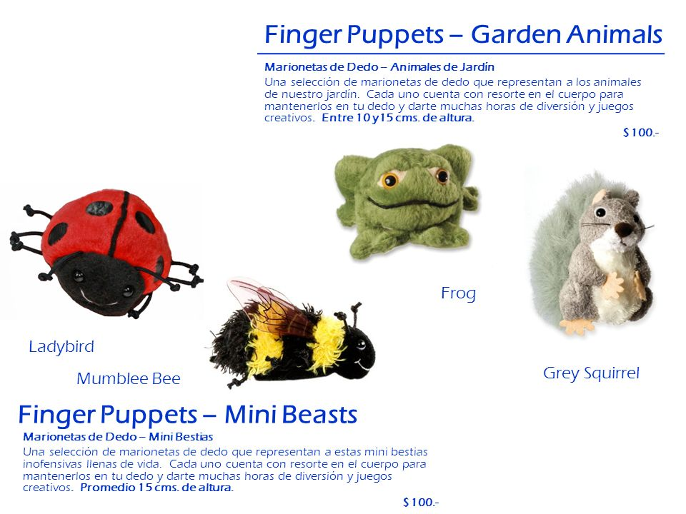 Finger Puppets – Garden Animals
