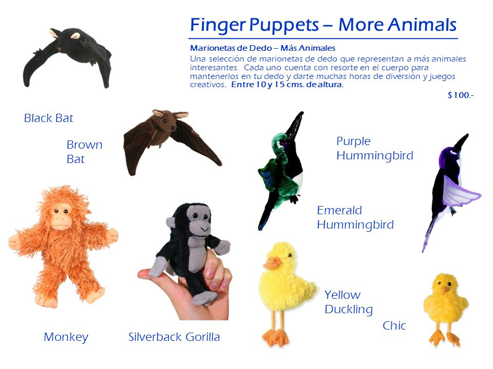 Finger Puppets – More Animals