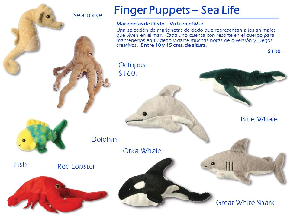 Finger Puppets – Sea Life