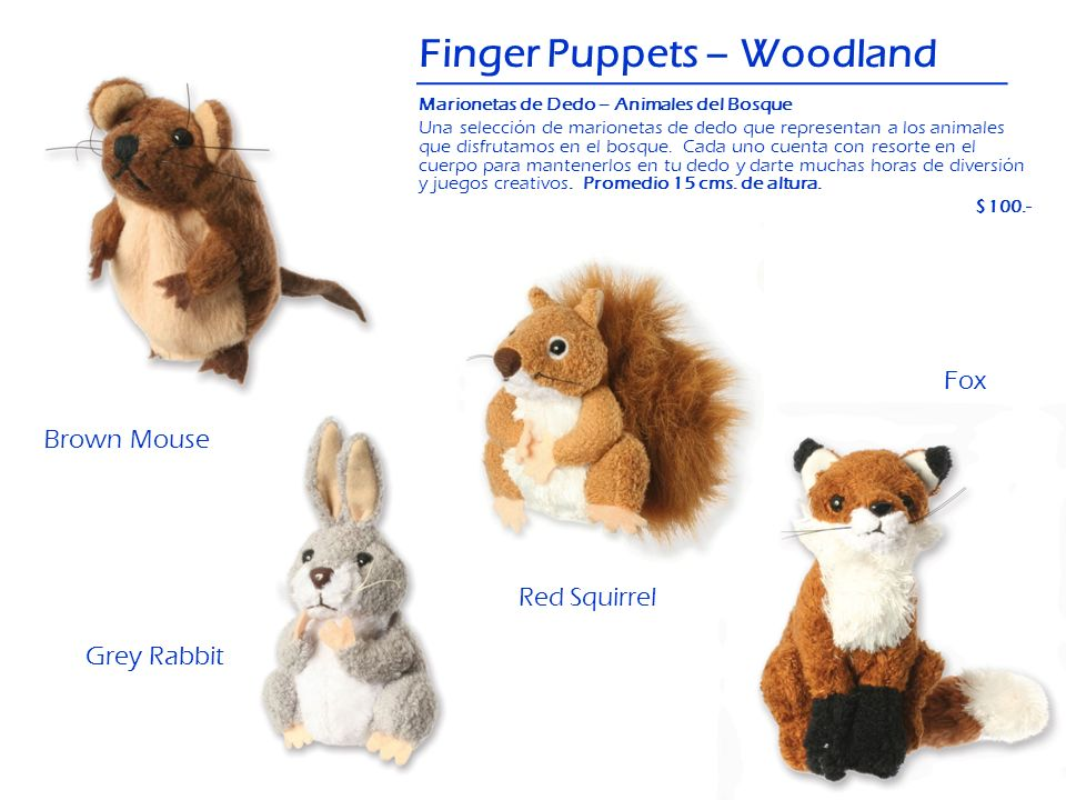 Finger Puppets – Woodland