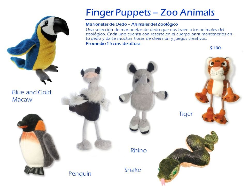 Finger Puppets – Zoo Animals