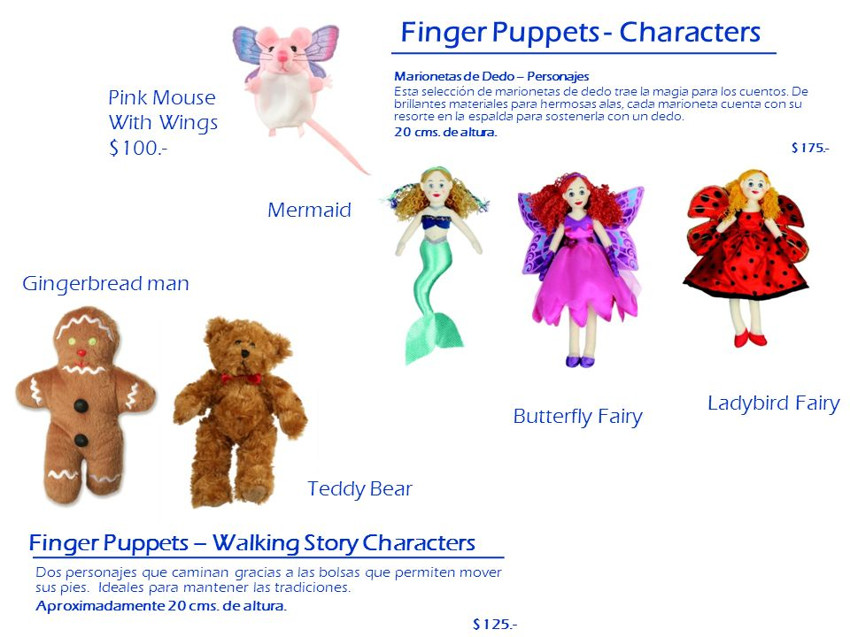 Finger Puppets - Characters