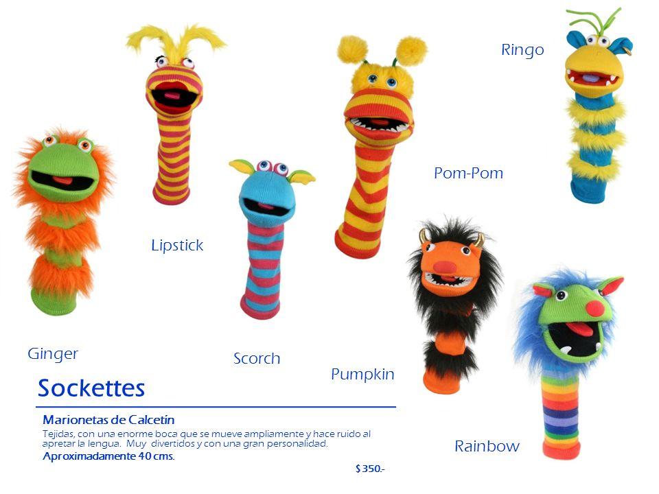 Sockettes Ringo Pom-Pom Lipstick Ginger Scorch Pumpkin Rainbow