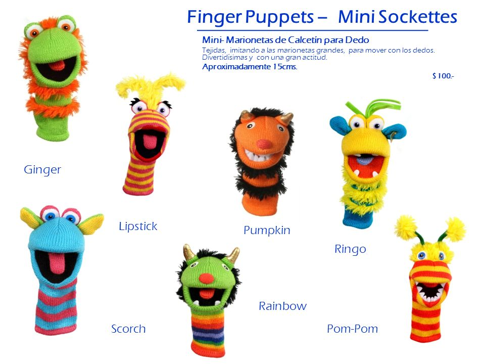 Finger Puppets – Mini Sockettes