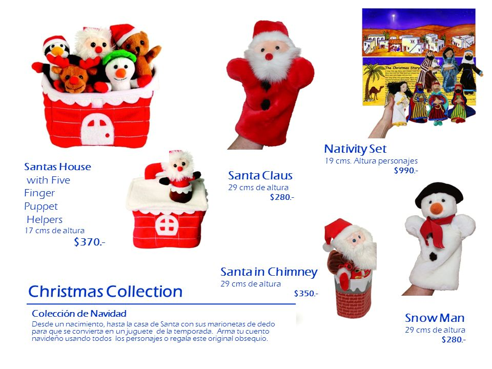 Christmas Collection Nativity Set Santa Claus Santa in Chimney