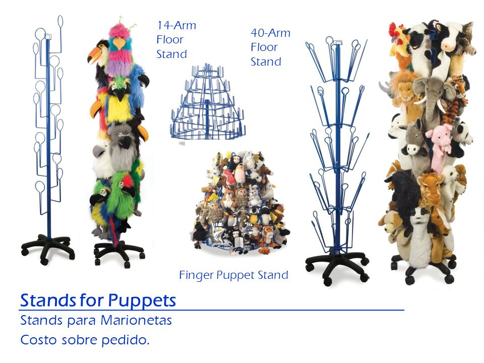 Stands for Puppets Stands para Marionetas Costo sobre pedido. 14-Arm