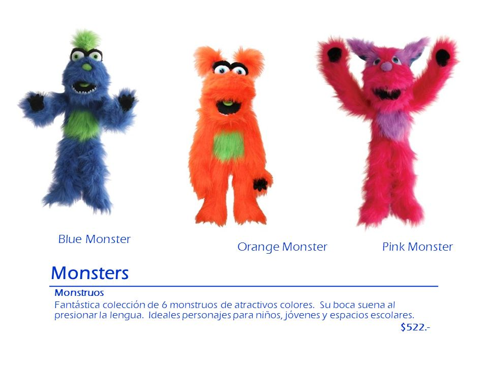 Monsters Blue Monster Orange Monster Pink Monster Monstruos