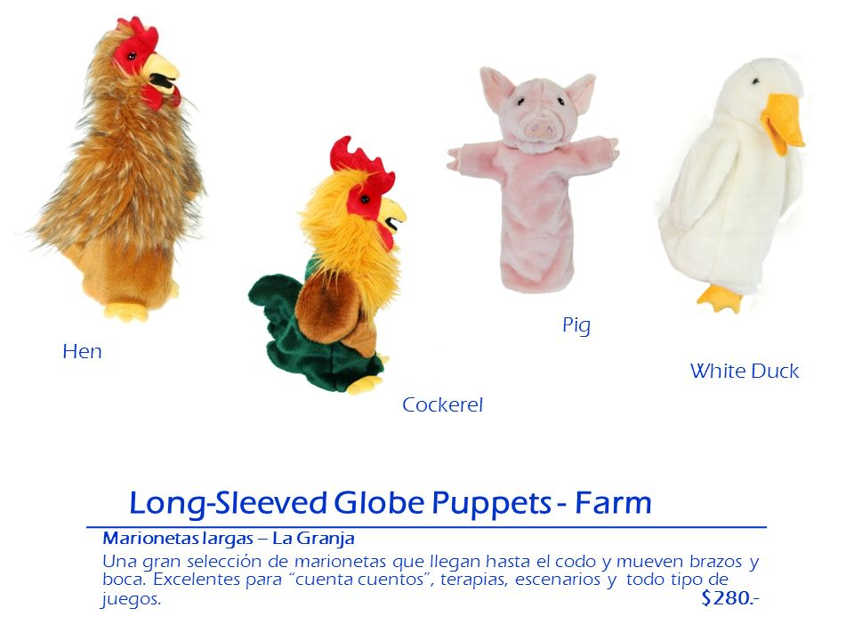 Long-Sleeved Globe Puppets - Farm