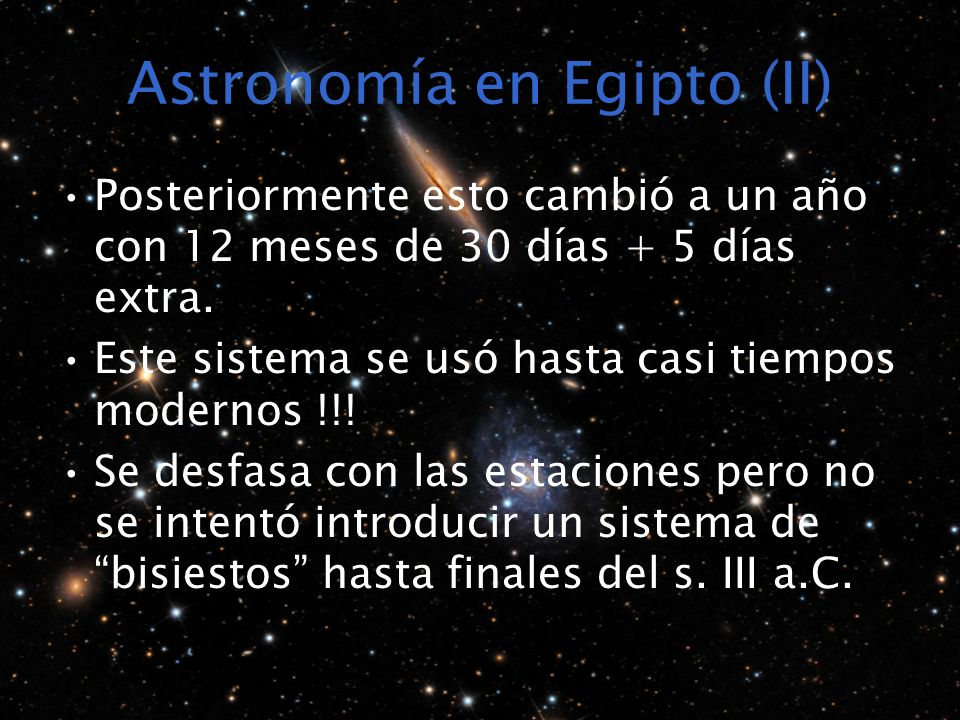 Astronomía en Egipto (II)