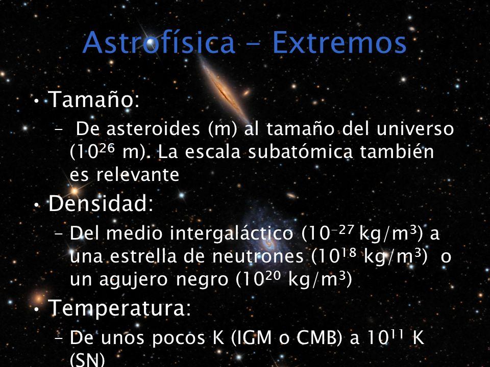 Astrofísica - Extremos
