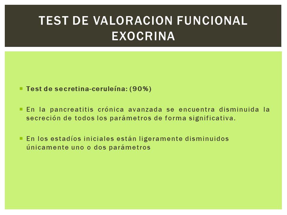TEST DE VALORACION FUNCIONAL EXOCRINA