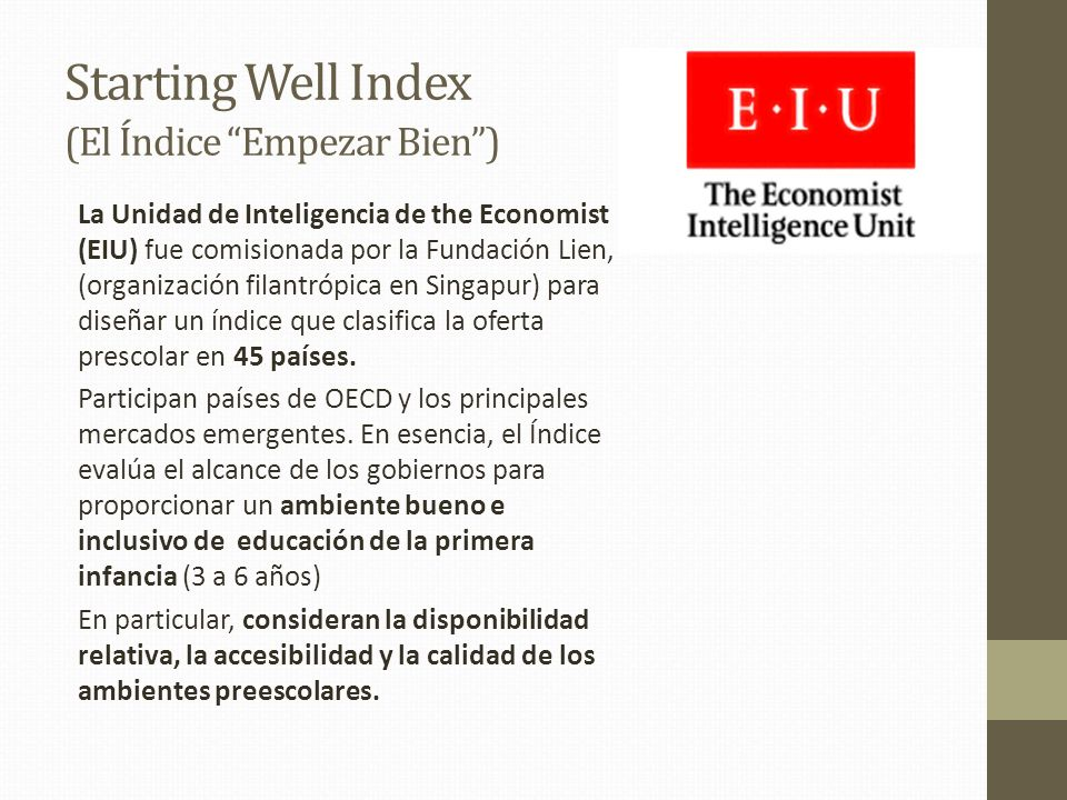 Starting Well Index (El Índice Empezar Bien )