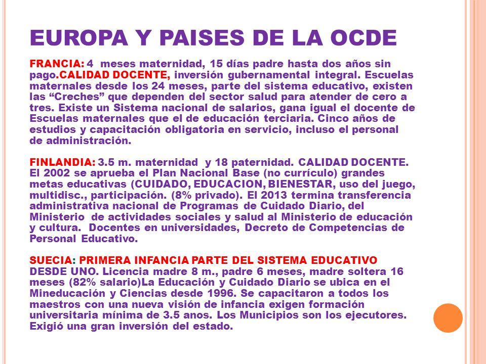 EUROPA Y PAISES DE LA OCDE