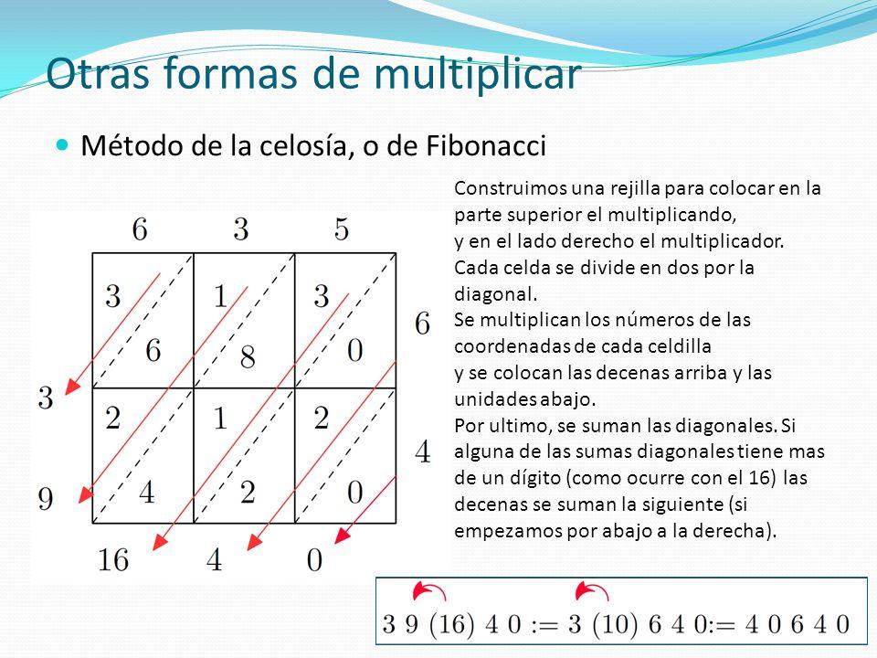 Otras formas de multiplicar