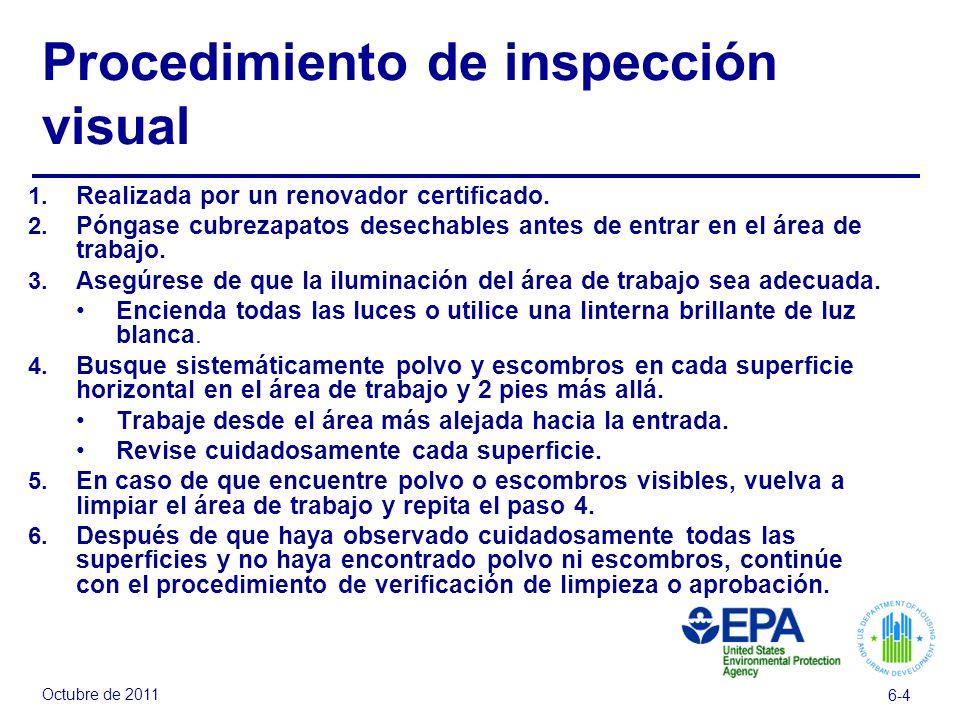 Procedimiento de inspección visual