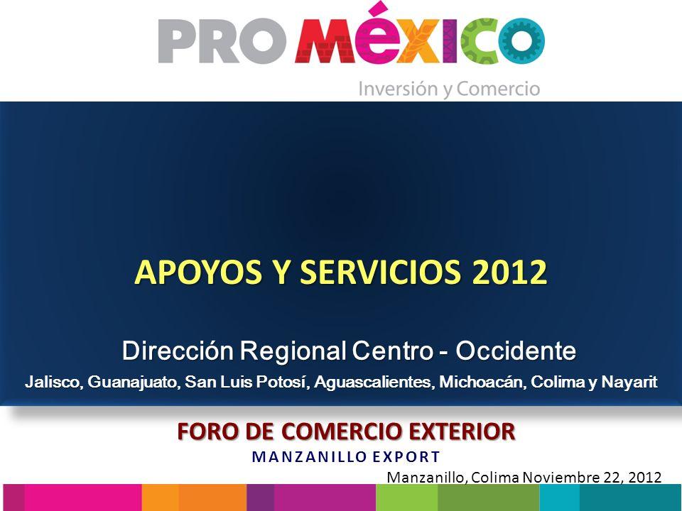 Dirección Regional Centro - Occidente FORO DE COMERCIO EXTERIOR