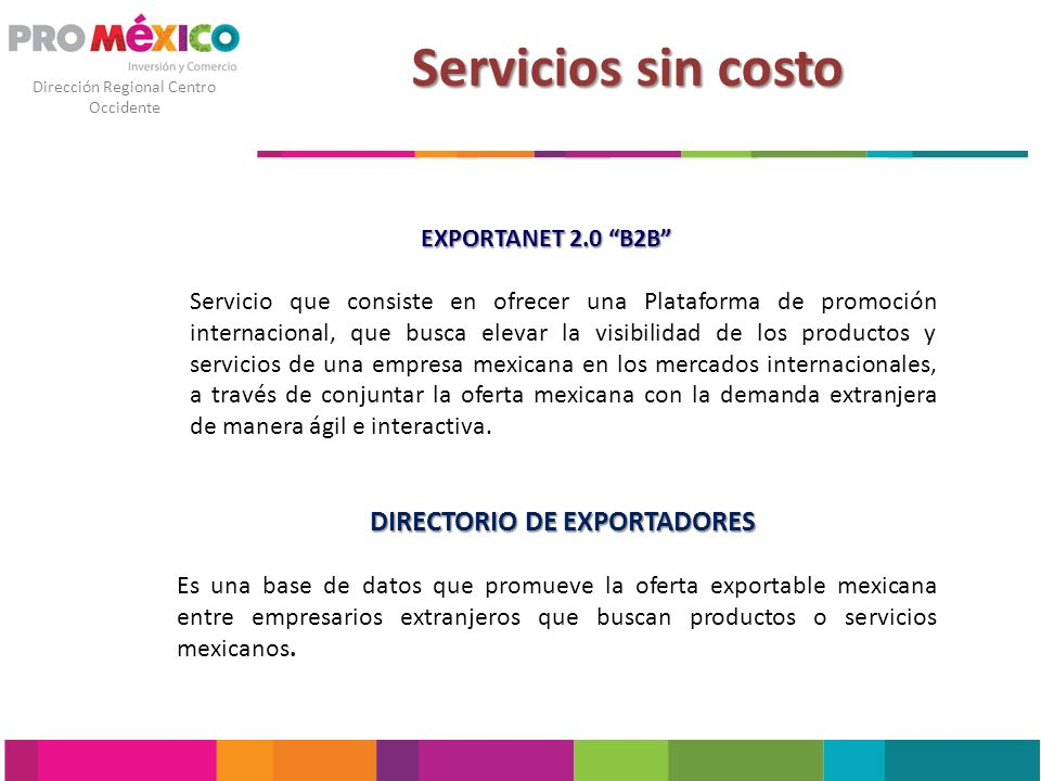 DIRECTORIO DE EXPORTADORES
