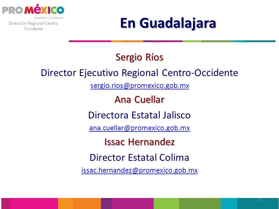En Guadalajara Sergio Ríos