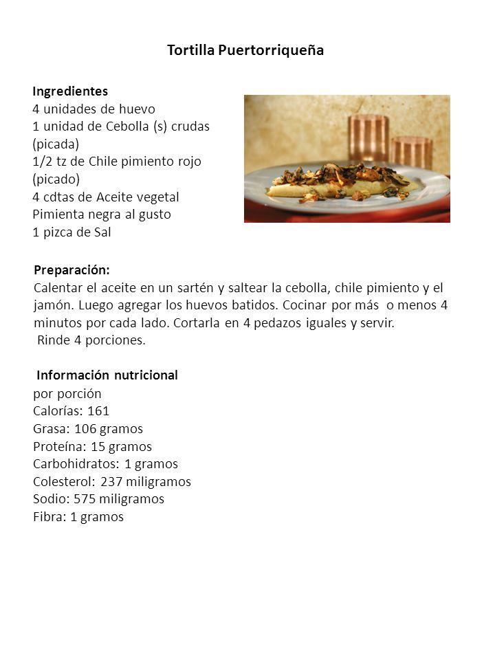 Tortilla Puertorriqueña