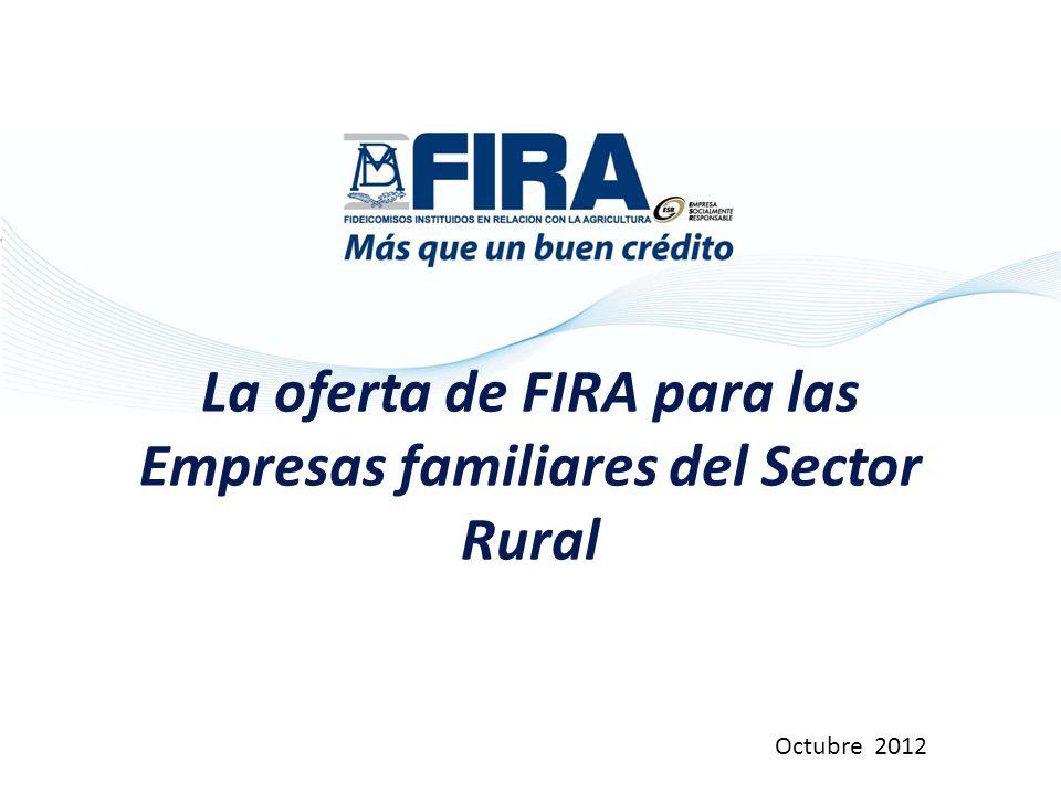 La oferta de FIRA para las Empresas familiares del Sector Rural