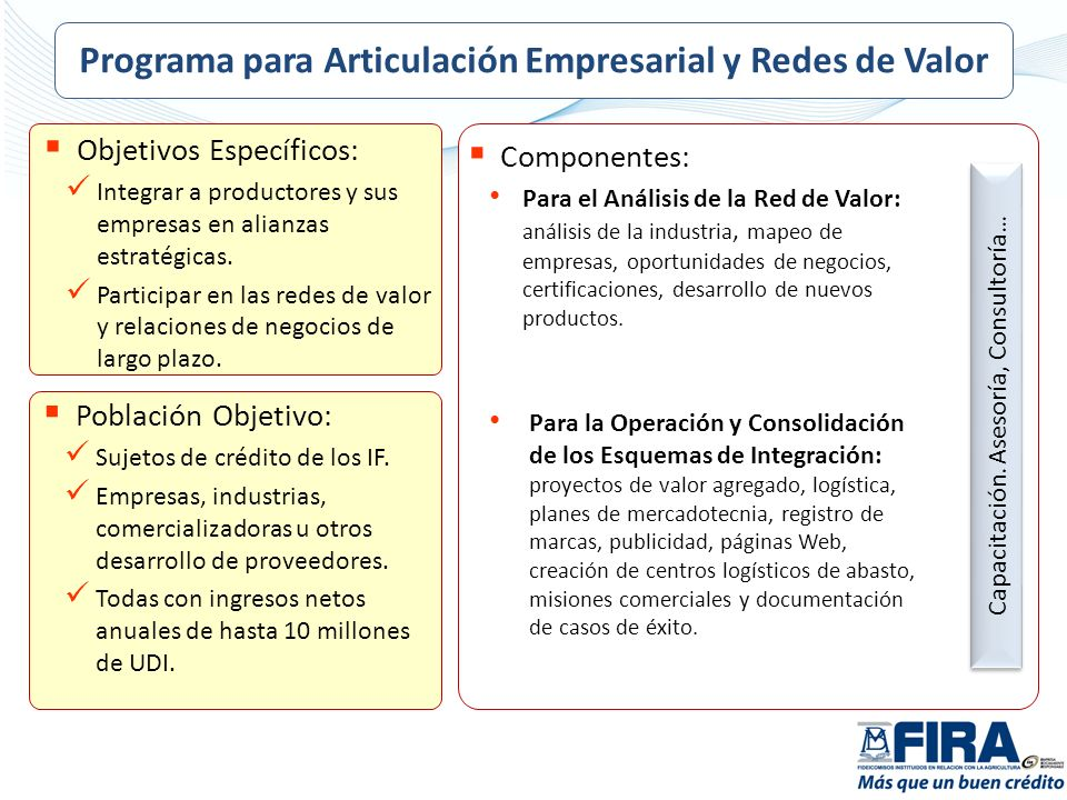 Programa para Articulación Empresarial y Redes de Valor