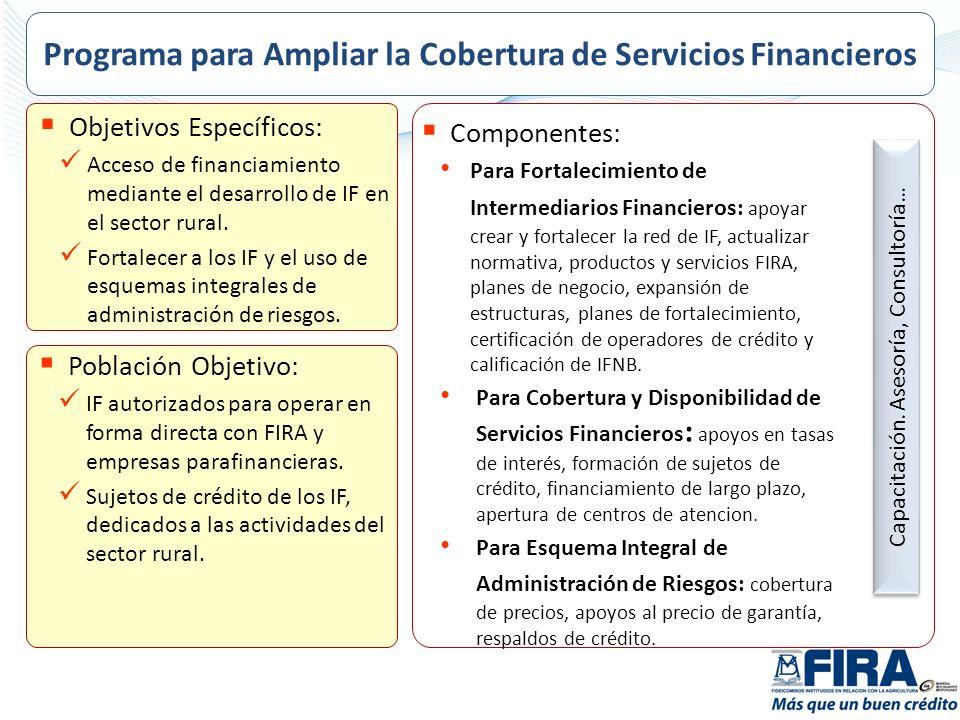 Programa para Ampliar la Cobertura de Servicios Financieros