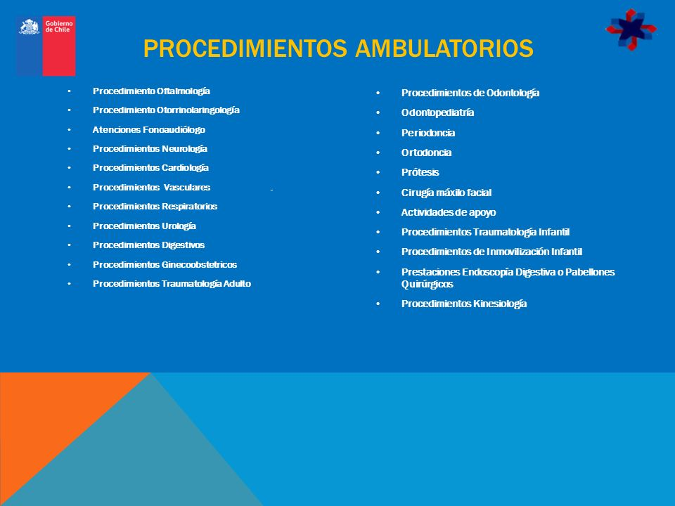 PROCEDIMIENTOS AMBULATORIOS