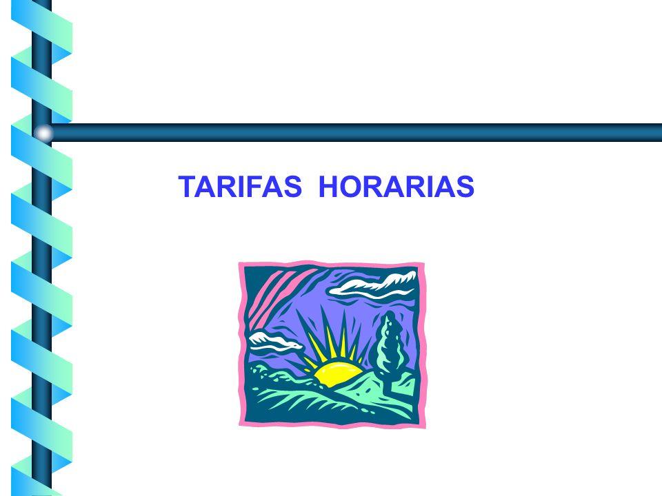 TARIFAS HORARIAS
