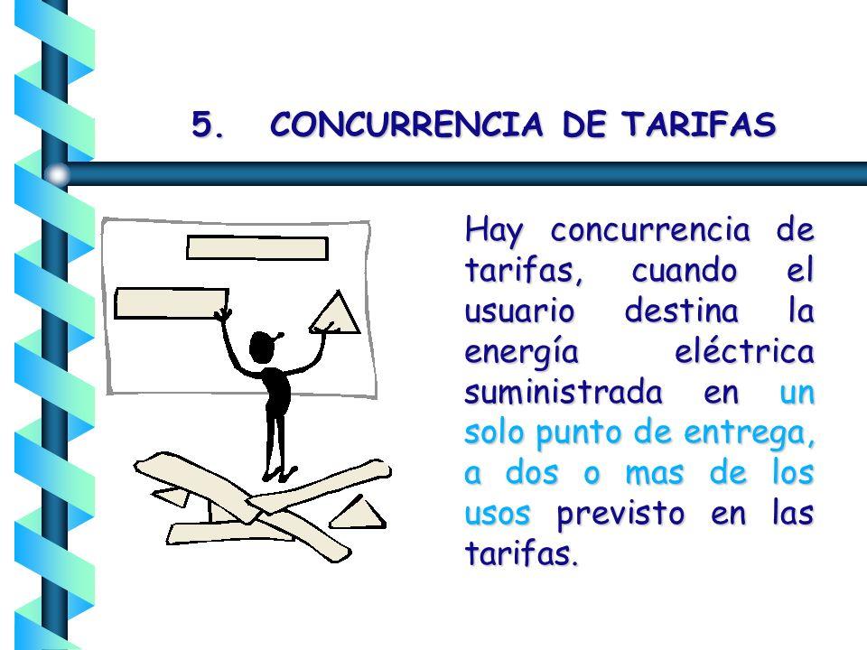 5. CONCURRENCIA DE TARIFAS