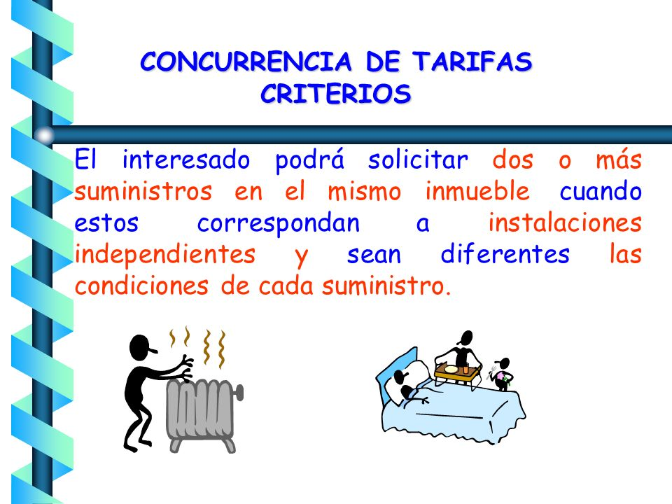 CONCURRENCIA DE TARIFAS CRITERIOS