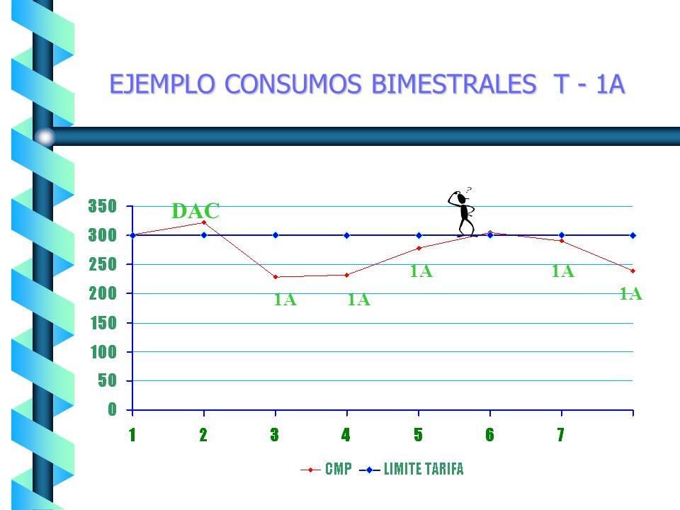 EJEMPLO CONSUMOS BIMESTRALES T - 1A