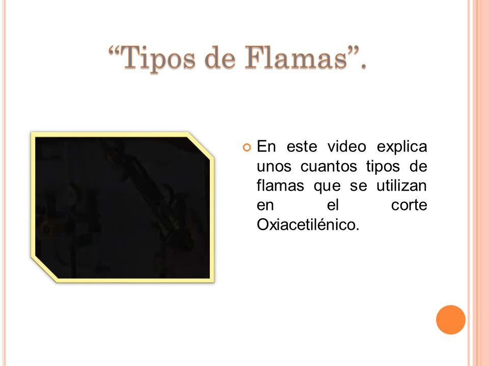 ''Tipos de Flamas''.