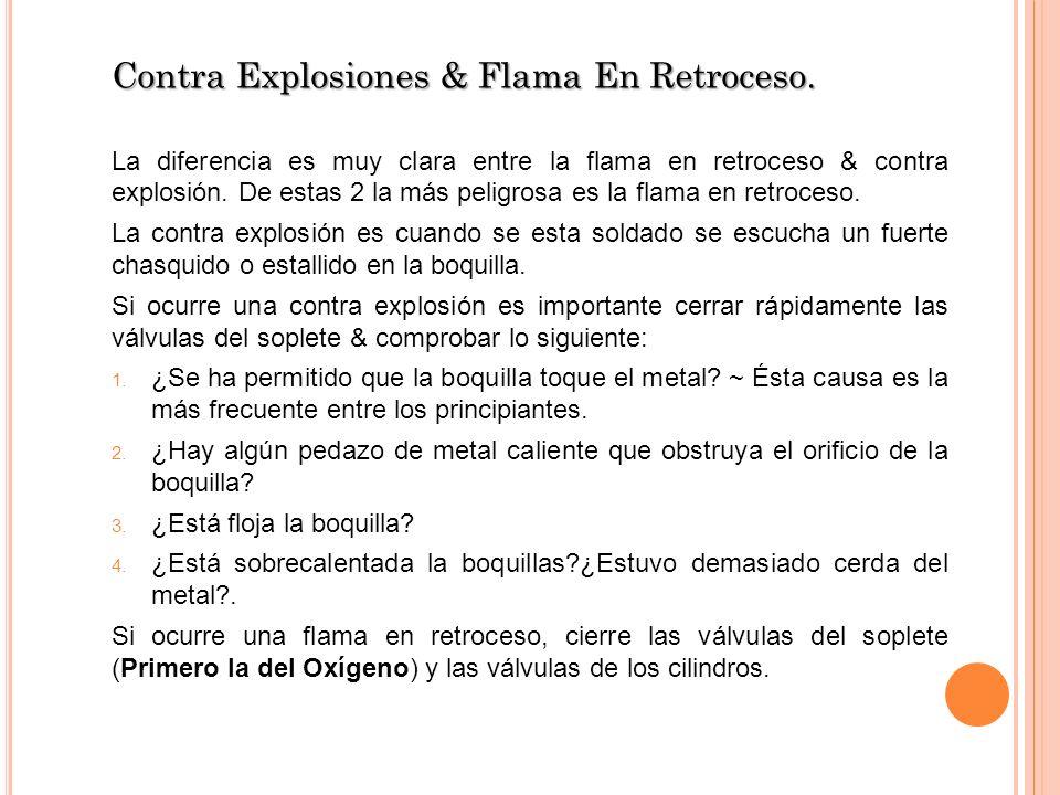 Contra Explosiones & Flama En Retroceso.
