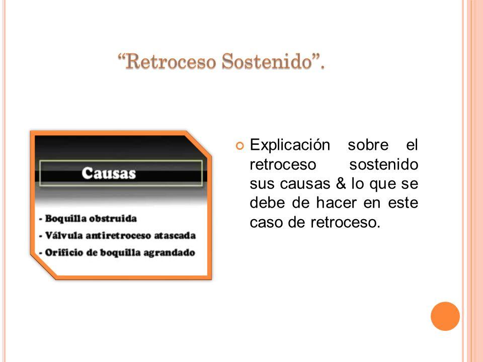 ''Retroceso Sostenido''.