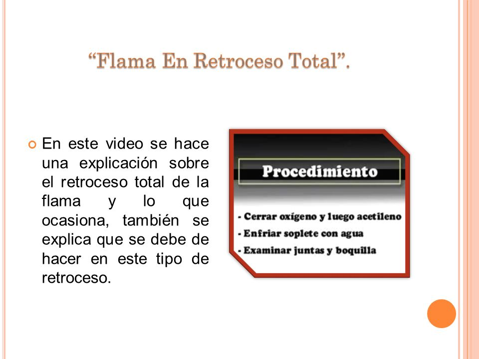 ''Flama En Retroceso Total''.
